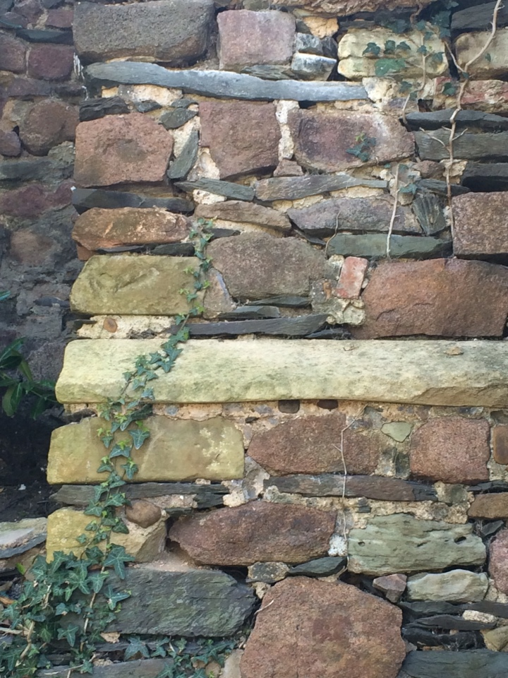 Buttress with dressed stone